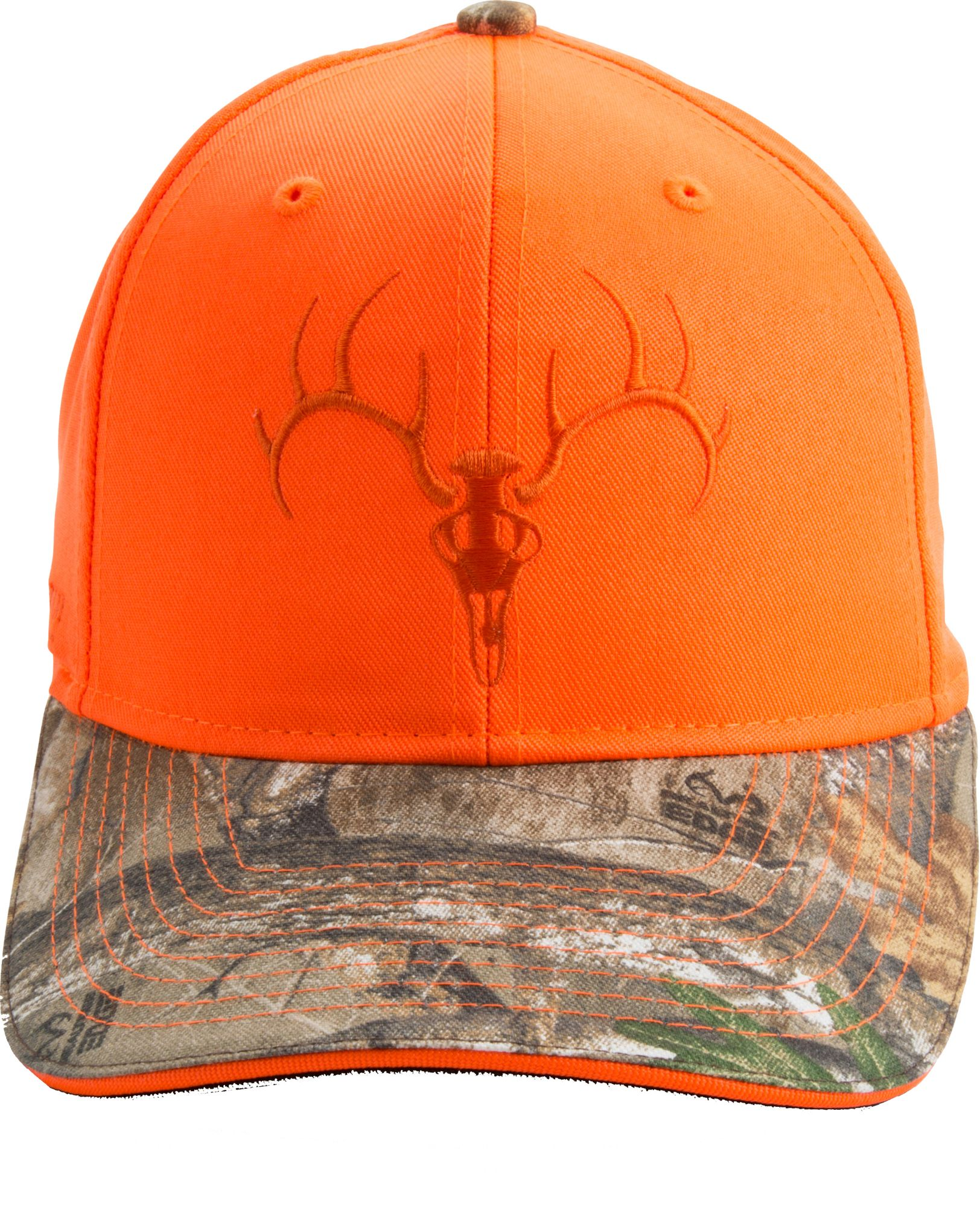 Field & Stream Men's Blaze Embroidered Skull Hat, Orange thumbnail