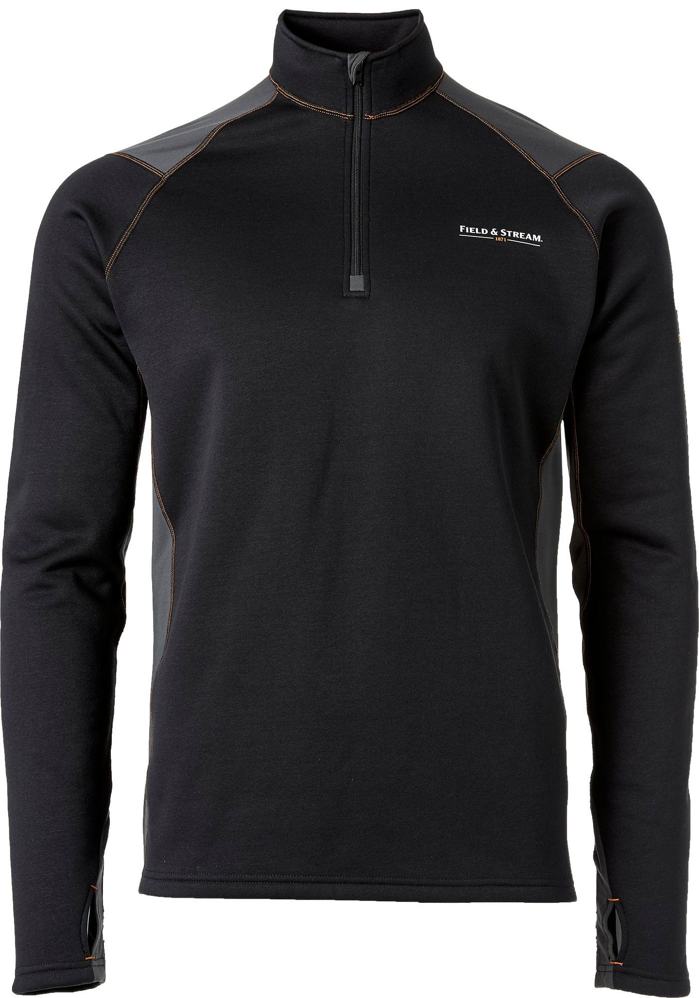 Field & Stream Men's Base Defense Arctic Chill Half Zip Base Layer Shirt, Size: Medium, Black thumbnail