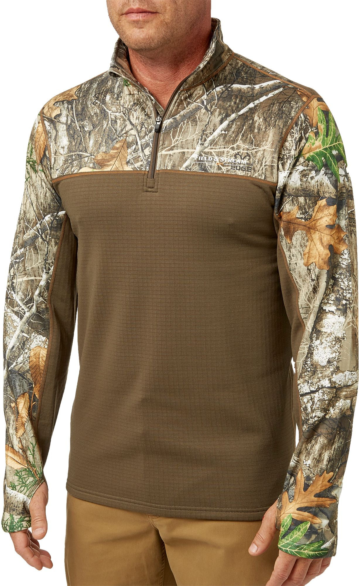 Field & Stream Men's Base Defense Expedition Weight Quarter Zip Pullover, Size: Medium, Multi thumbnail