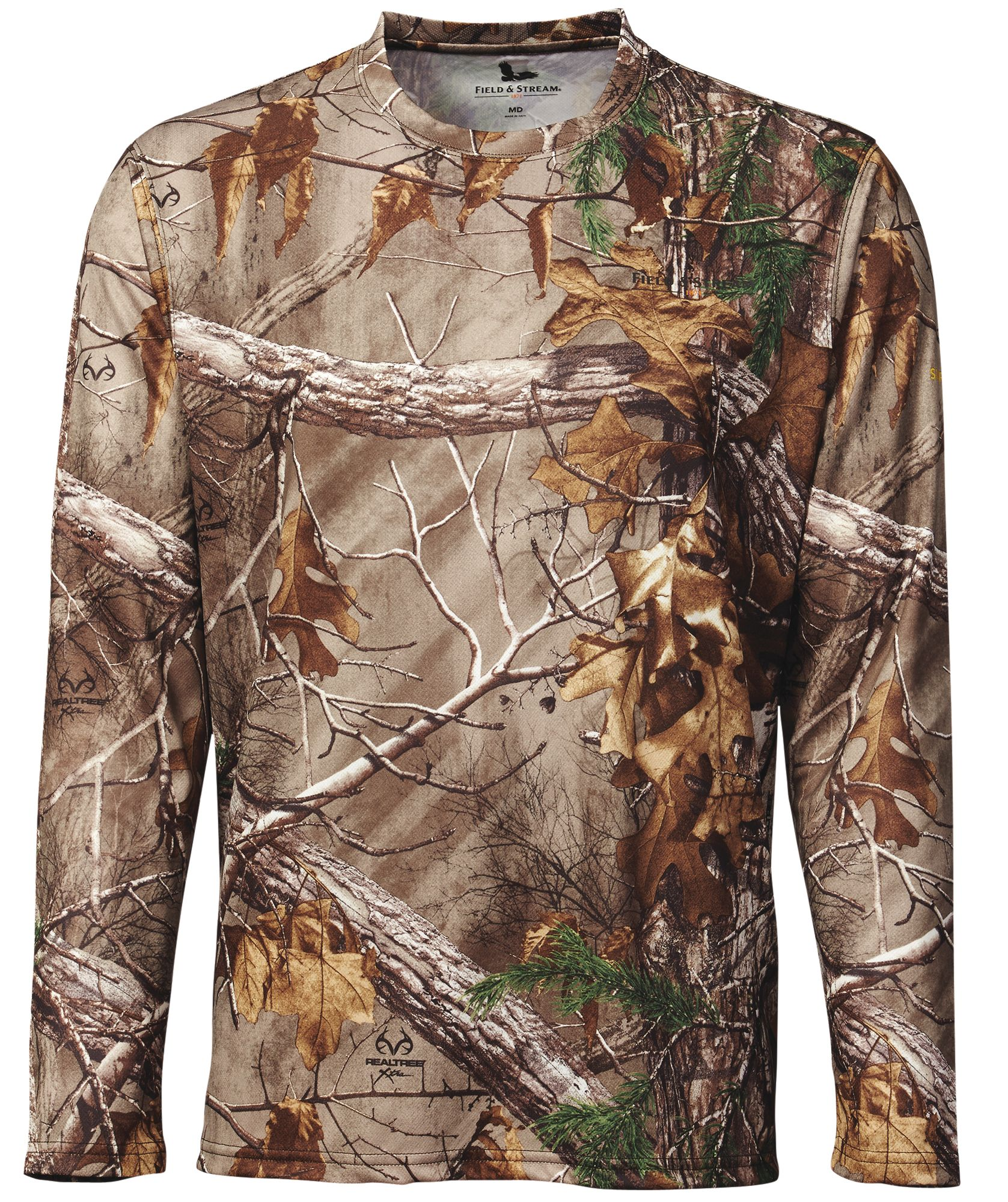 Field & Stream Men's Performance Camo Long Sleeve Shirt, XXL, Brown