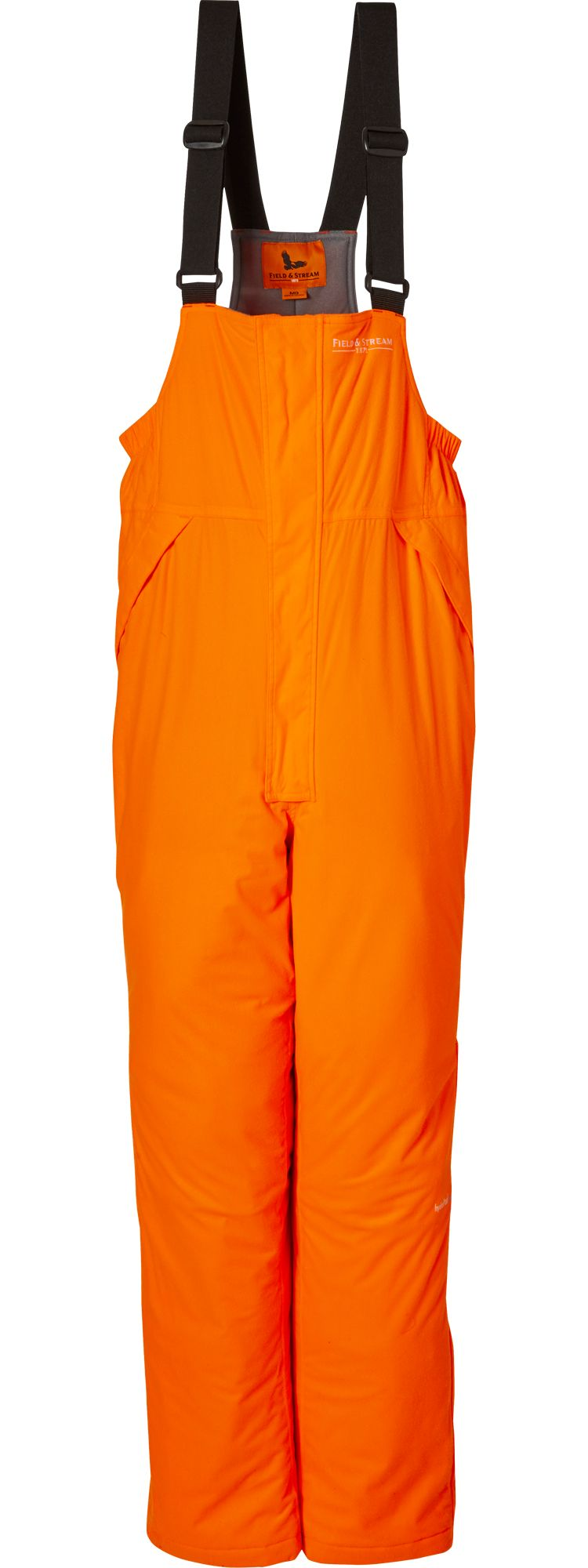 Field & Stream Men's True Pursuit Insulated Hunting Bibs, Medium, Blaze Orange