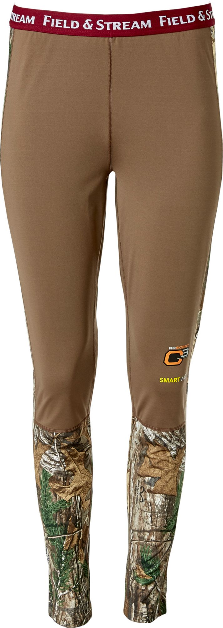 Field & Stream Women's Base Defense Midweight Base Layer Leggings, Small, Brown