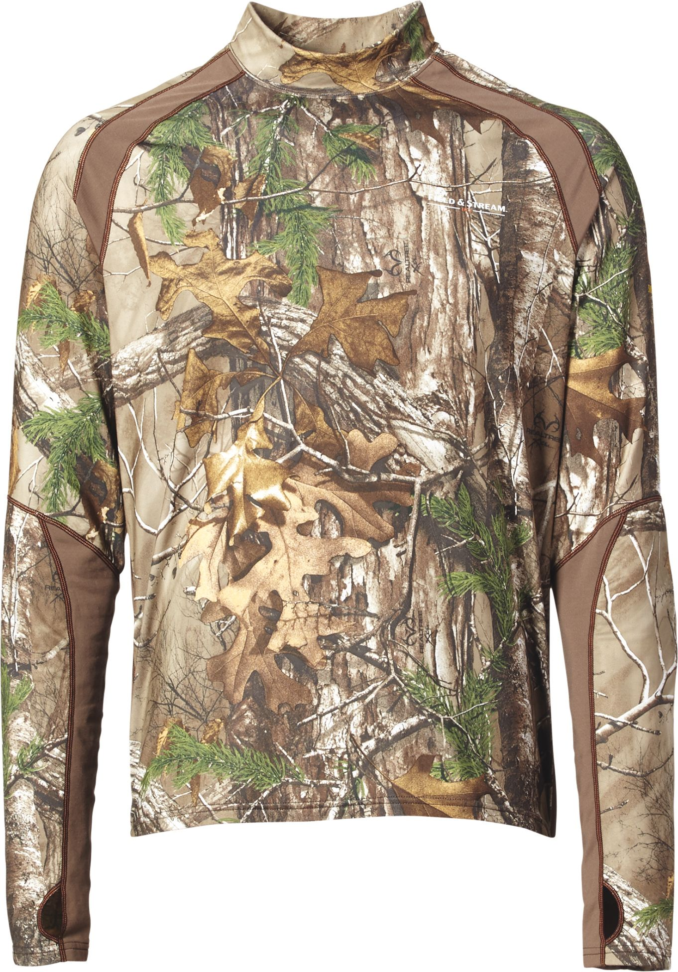 Field & Stream Youth Base Defense Midweight Mock Neck Base Layer Shirt, Kids Unisex, Size: Small, Brown thumbnail