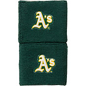 "Franklin Oakland Athletics Green 2.5"" Wristbands"