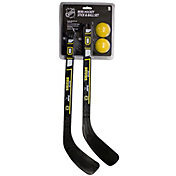 Franklin Boston Bruins Two Mini Hockey Sticks and Balls Set