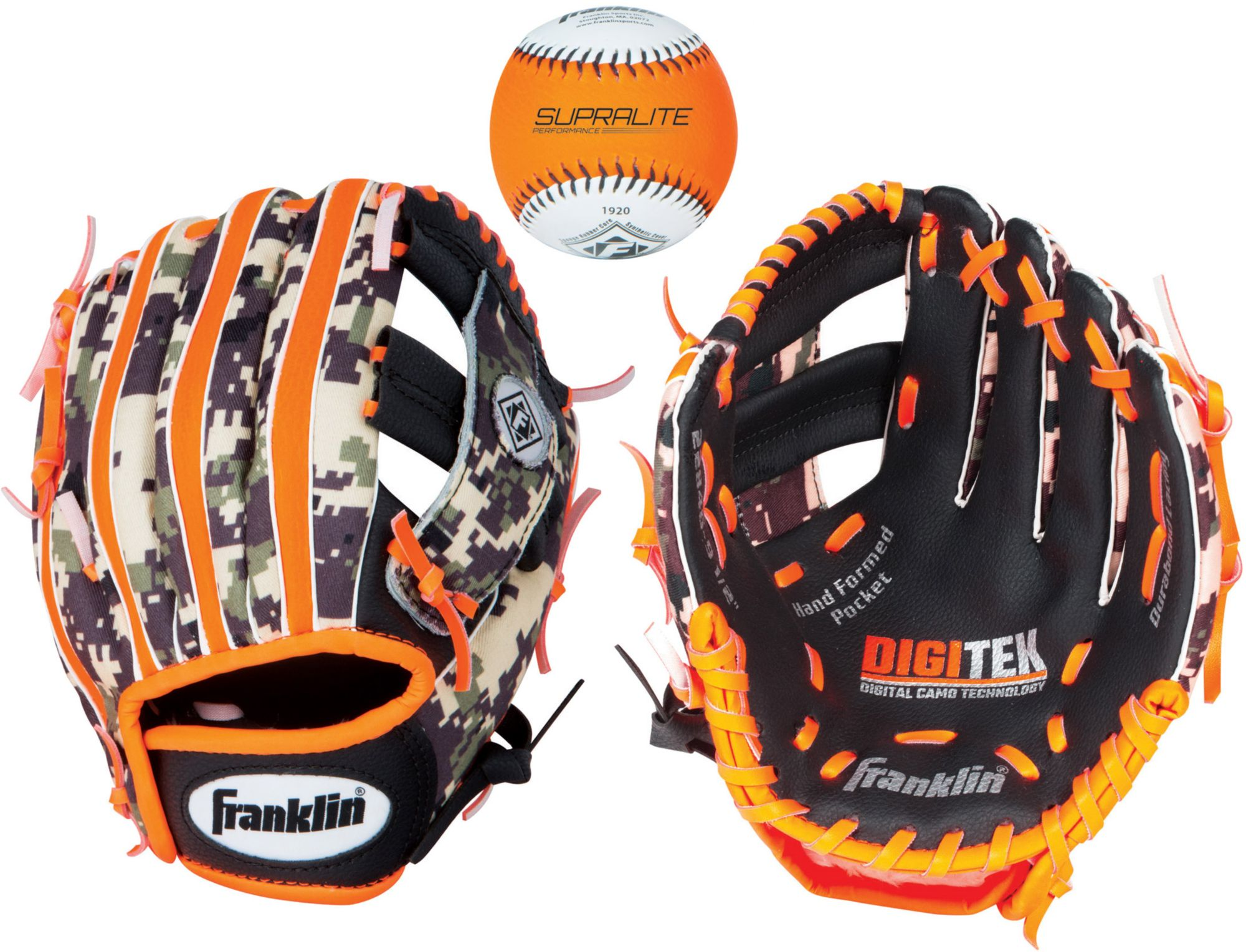 "Franklin 9.5"" RTP T-Ball Performance Glove w/ Ball, Kids Unisex, Size: RIGHT HAND THROW thumbnail"