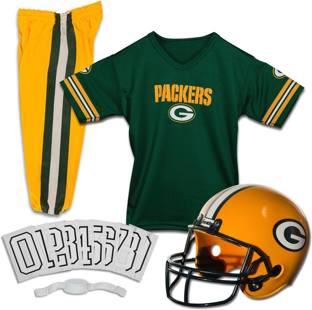 premium selection 07610 cc0d5 Franklin Green Bay Packers Deluxe Uniform Set