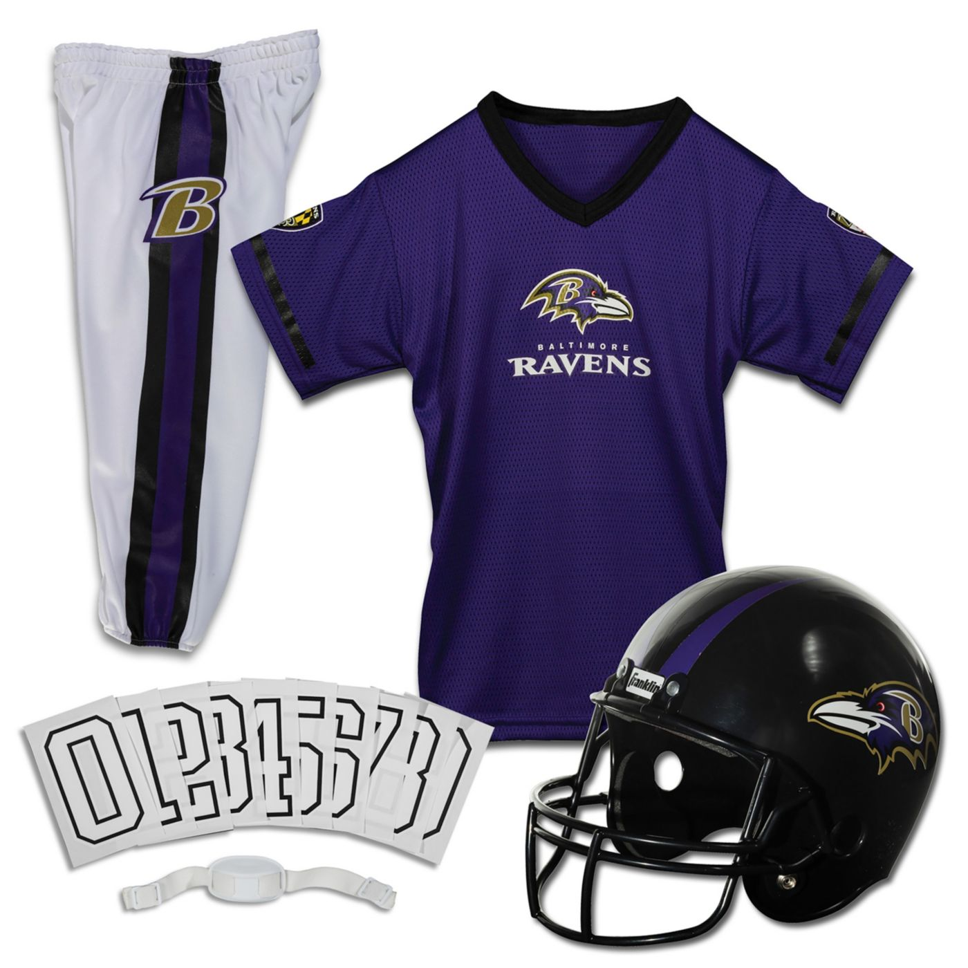 Franklin Baltimore Ravens Youth Deluxe Uniform Set