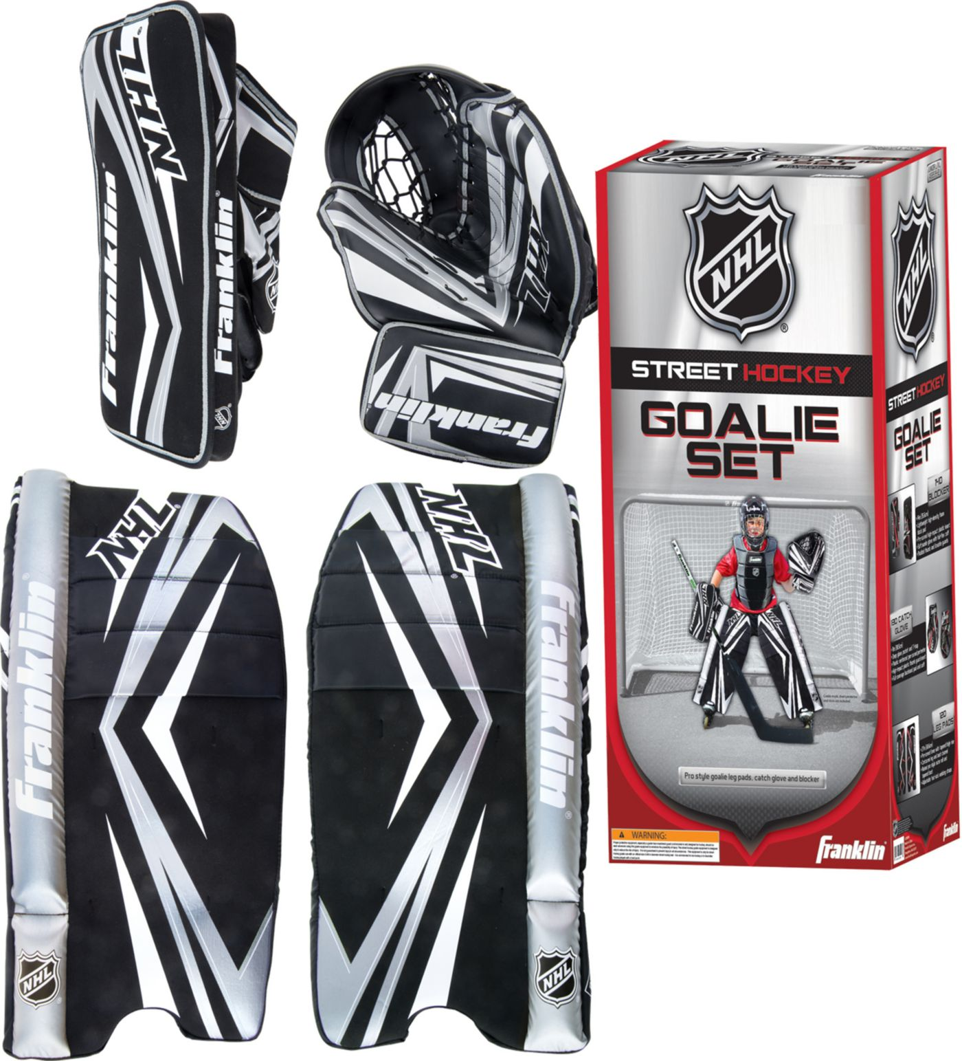 Franklin Junior NHL SX COMP 100 Street Hockey Goalie Set