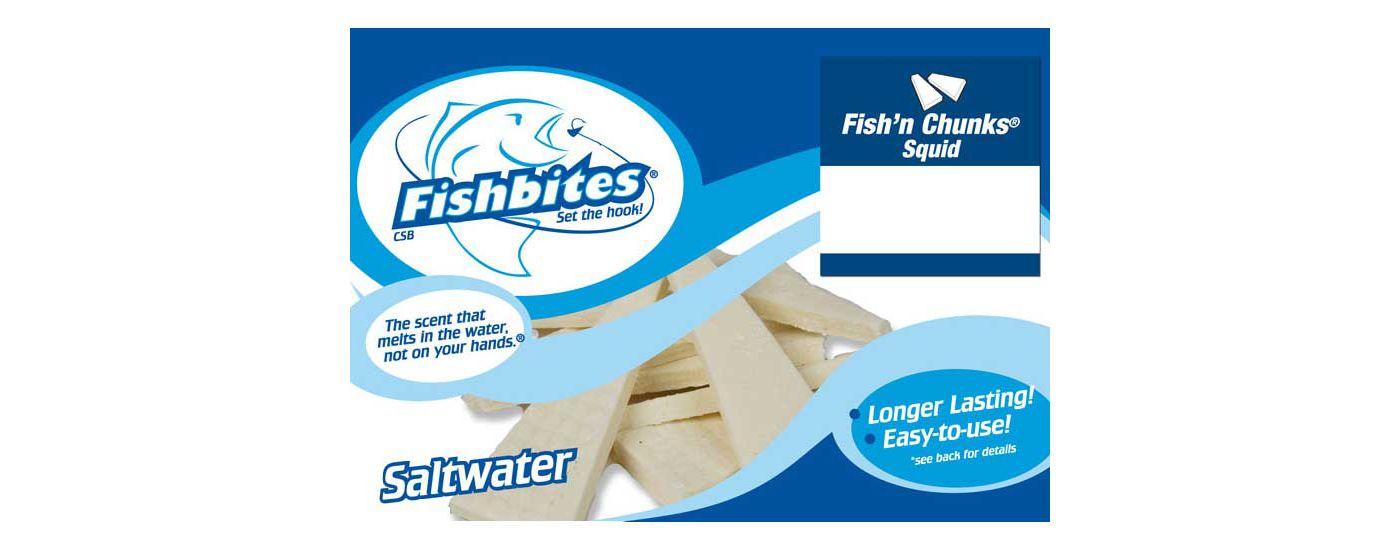 Fishbites Fish'n Chunks Longer Lasting Saltwater Soft Bait