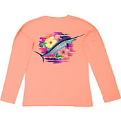 Guy Harvey Women's Flipping Flowers Long Sleeve Shirt