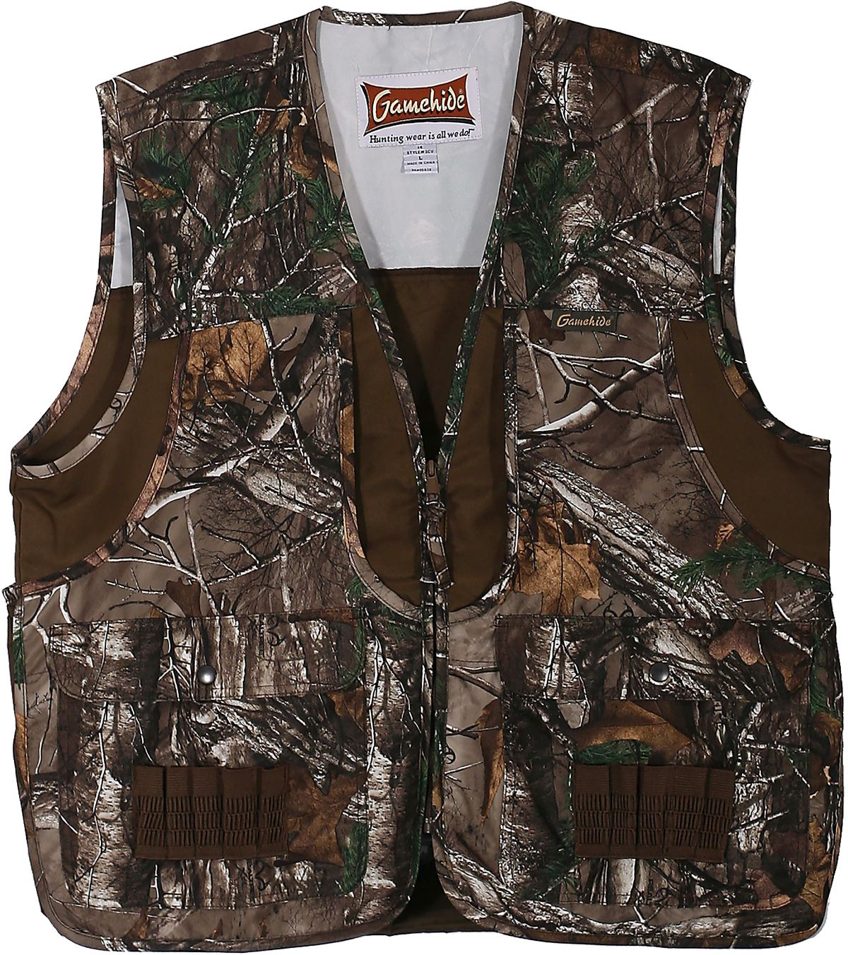 Gamehide Youth Front Loader Hunting Vest, Kids Unisex, Size: Small, Brown thumbnail