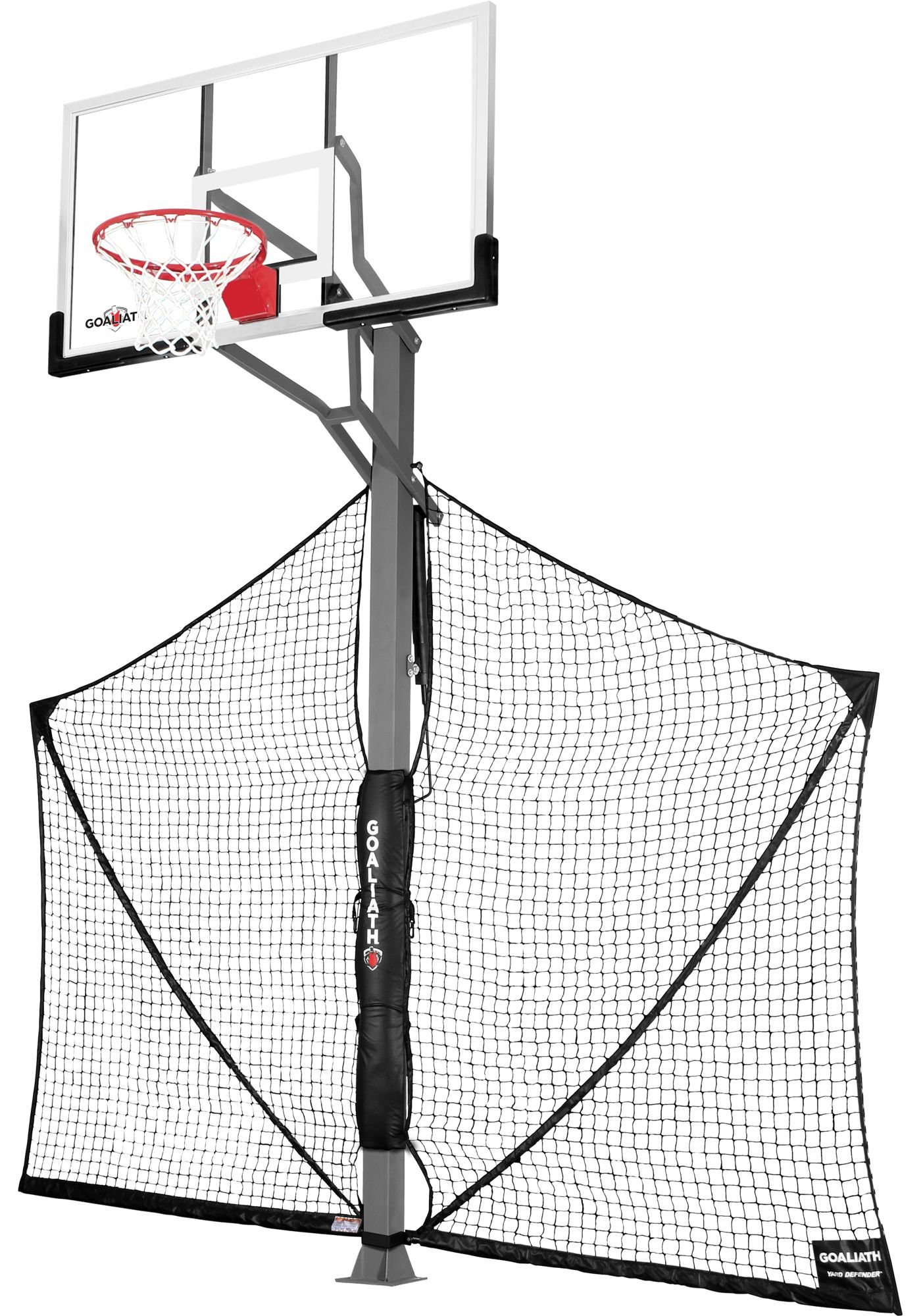 "Goaliath 60"" In-Ground Basketball Hoop with Yard Defender"
