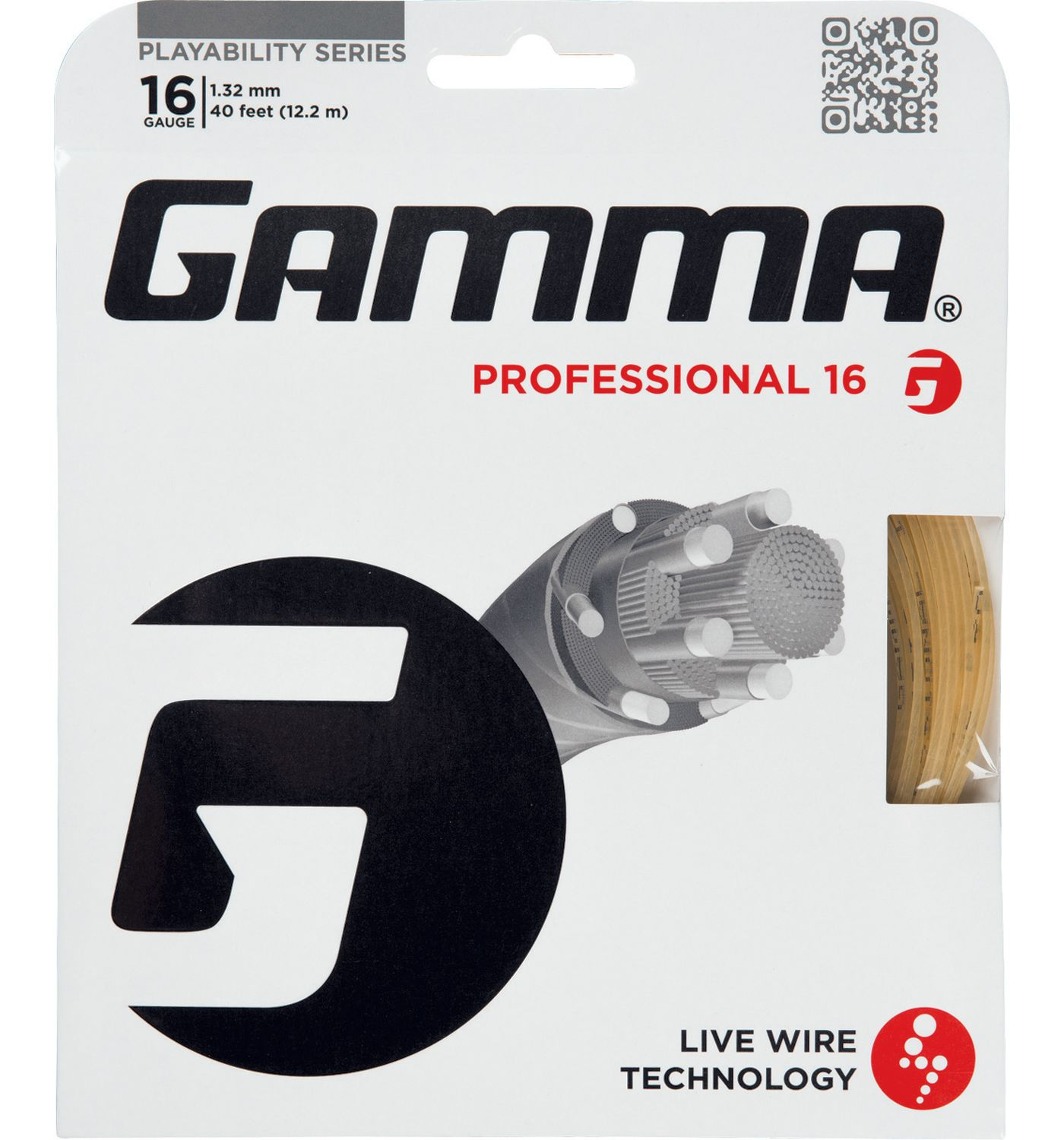 GAMMA Live Wire Professional 16/17/18 Racquet String