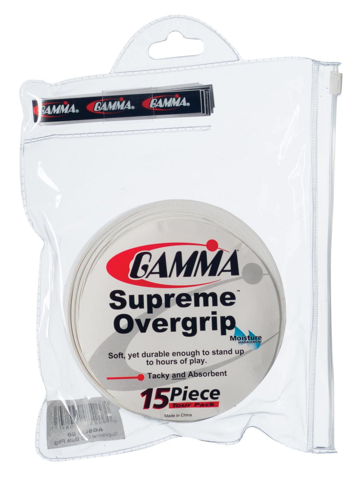 GAMMA Supreme Overgrip - 15 Piece Tour Pack