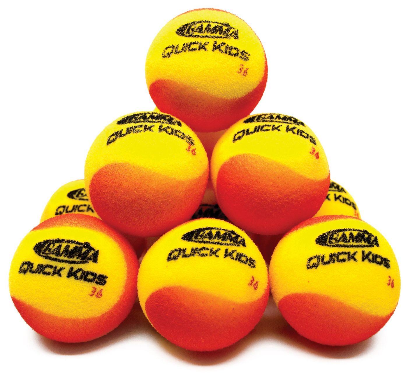 GAMMA Quick Kids 36' Tennis Balls - 12 Ball Pack