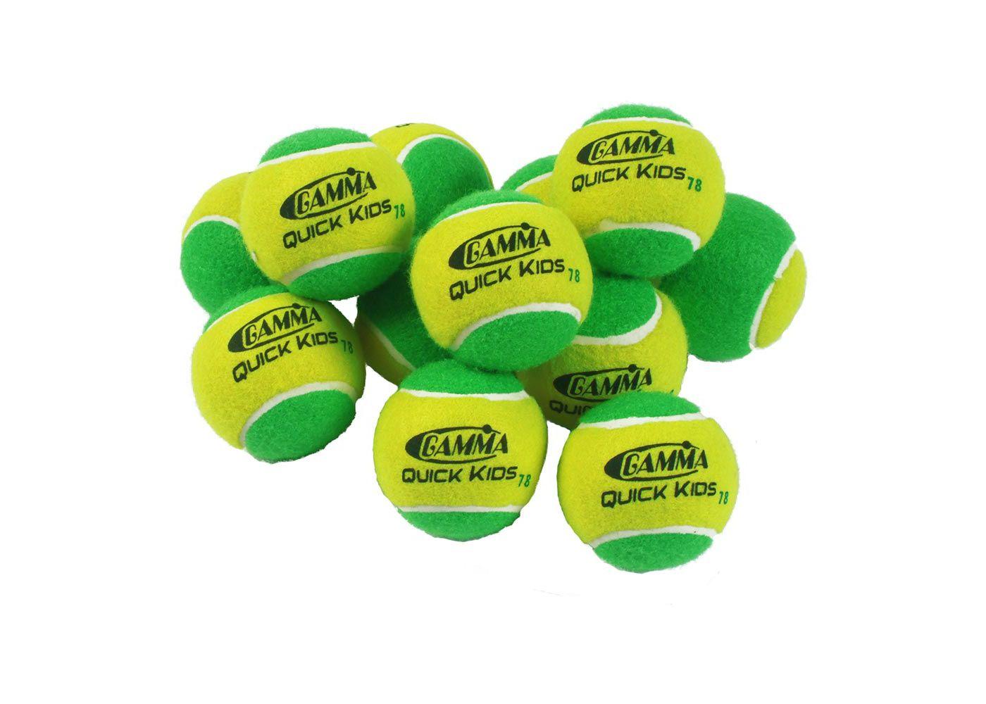 GAMMA Quick Kids 78' Tennis Balls - 12 Ball Pack