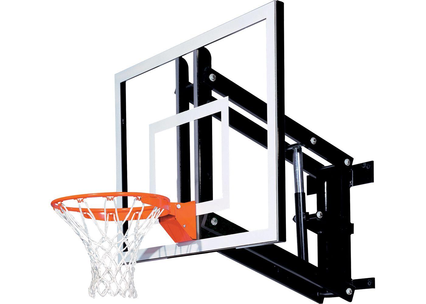 """Goalsetter 54"""" Adjustable Glass Backboard and Collegiate Rim"""