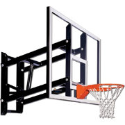 "Goalsetter 54"" Fixed Height Glass Backboard and HD Breakaway Rim"