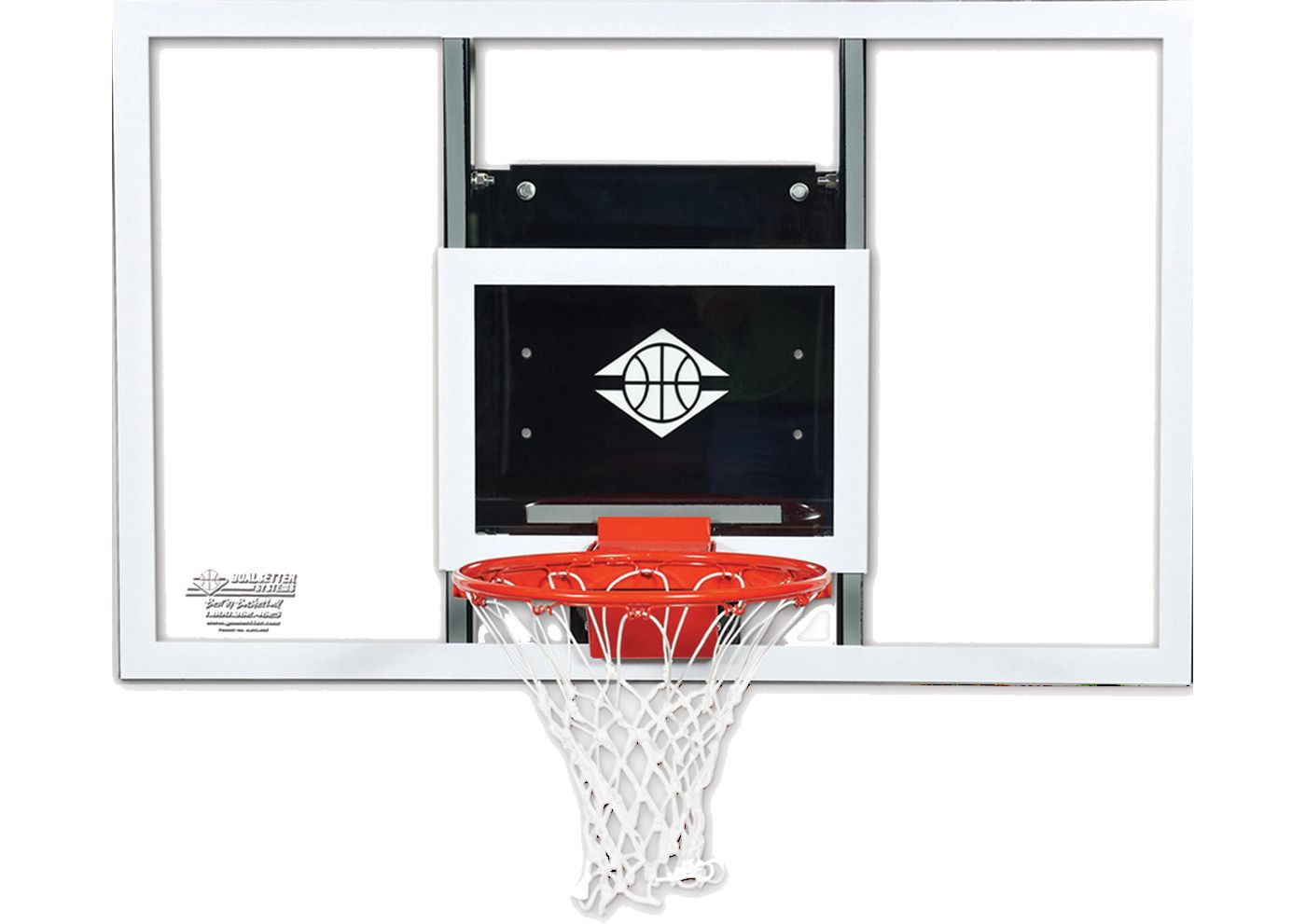 "Goalsetter 60"" Fixed Height Baseline Glass Backboard and HD Breakaway Rim"