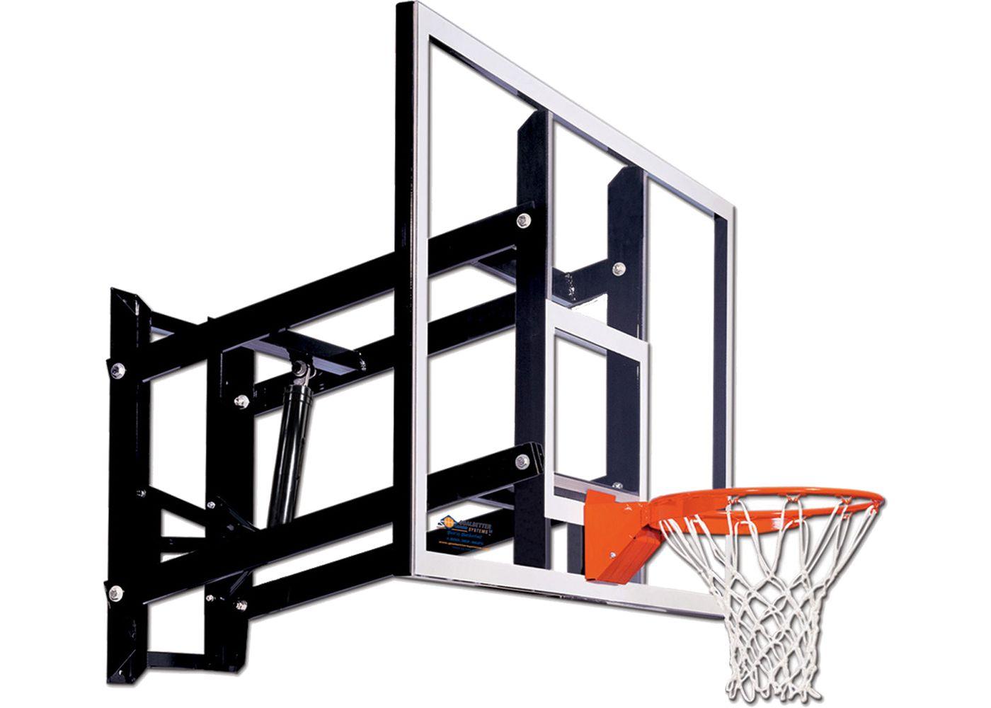 """Goalsetter 72"""" Adjustable Glass Backboard and Collegiate Rim"""