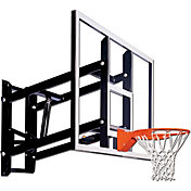 "Goalsetter 72"" Fixed Height Glass Backboard and Single Static Rim"