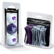 Team Golf Kansas State Cougars Golf Ball and Tee Set