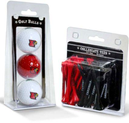 Team Golf Louisville Cardinals Golf Balls And Tees