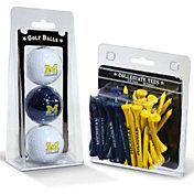 Team Golf Michigan Wolverines Golf Ball and Tee Set