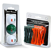 Team Golf Miami Hurricanes Golf Ball and Tee Set