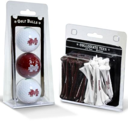 Team Golf Mississippi State Bulldogs Golf Balls And Tees