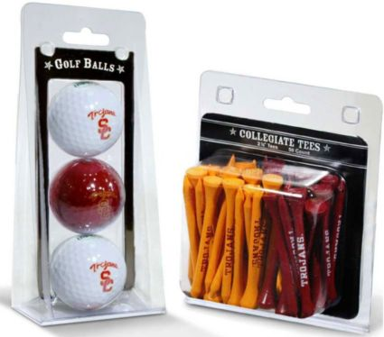 Team Golf USC Trojans Golf Balls And Tees