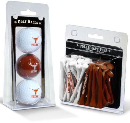 Team Golf Texas Longhorns NCAA Golf Balls And Tees
