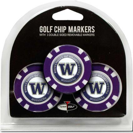 Team Golf Washington Huskies Golf Chips - 3 Pack