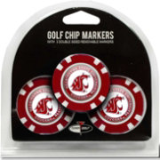 Team Golf Washington State Cougars Poker Chips Ball Markers - 3-Pack