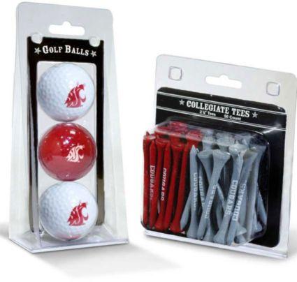 Team Golf Washington State Cougars Golf Balls And Tees