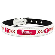 Philadelphia Phillies Classic Leather Baseball Dog Collar