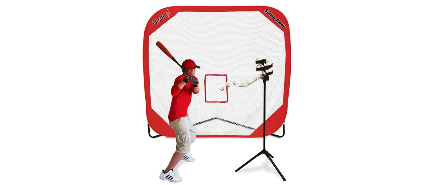 Heater Big League Soft Toss Pitching Machine & Pop-Up Net