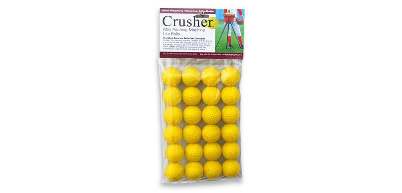 Heater Crusher Mini Pitching Machine Lite-Balls - 24 Pack