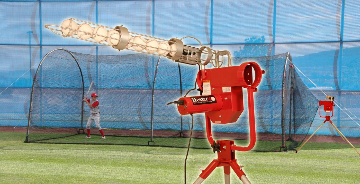 Heater Baseball Pro Pitching Machine & Xtender 24' Batting Cage