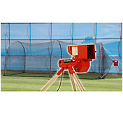 "Heater 12"" Softball Pitching Machine & Xtender 24' Batting Cage"
