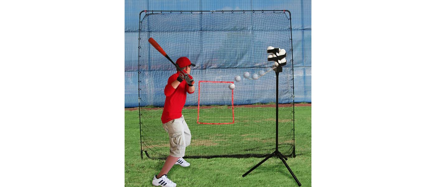 Heater Big League Soft Toss Pitching Machine w/ Practice Net