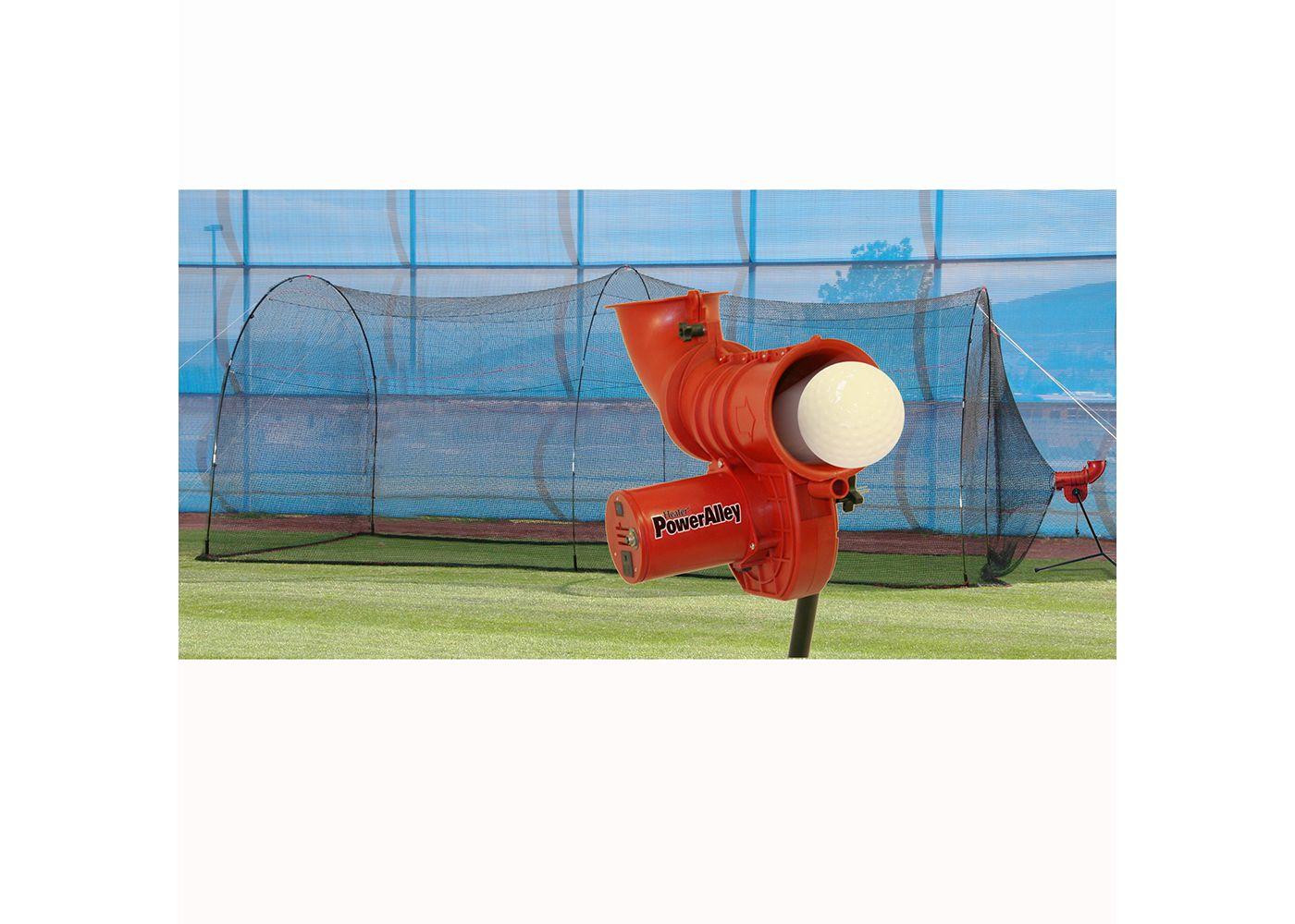 "Heater PowerAlley 11"" Softball Pitching Machine & PowerAlley 22' Batting Cage"