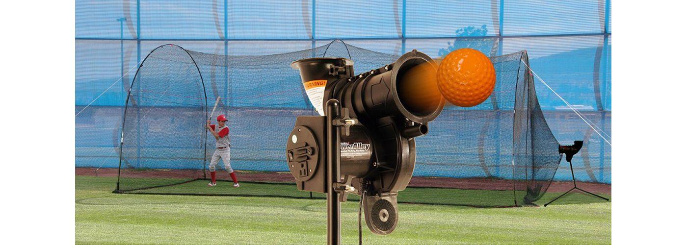 Heater PowerAlley Lite Baseball Pitching Machine & Home 20' Batting Cage