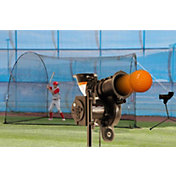 "Heater PowerAlley Lite Pitching Machine & HomeRun 12"" Batting Cage"