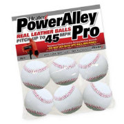 Heater PowerAlley Pro Leather Pitching Machine Baseballs - 6 Pack