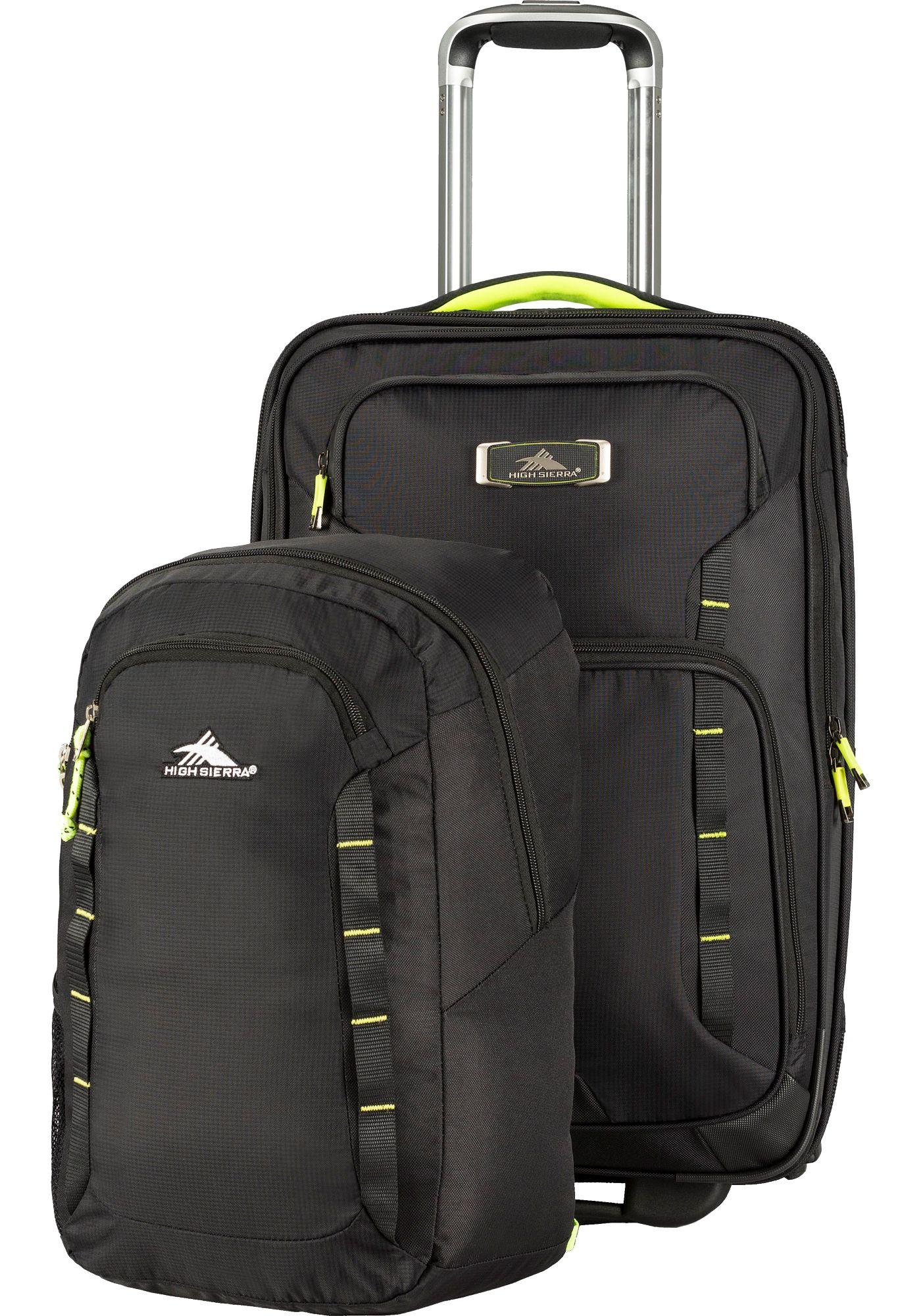 High Sierra AT8 Wheeled Duffle With Pack N Go Backpack