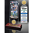 Highland Mint Robin Yount Milwaukee Brewers Hall of Fame Ticket and Bronze Coin Acrylic Desktop Display