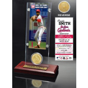 Highland Mint Ozzie Smith St. Louis Cardinals Hall of Fame Ticket and Bronze Coin Acrylic Desktop Display