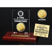 Highland Mint Oakland Athletics World Series Championship Gold Coin Etched Acrylic